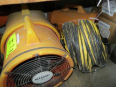 LOT AIR BLOWERS, 4 ASSORTED ALLEGRO COM PAX PORTABLE AIR BLOWERS & 1- MISC BLOWER