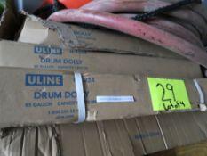 LOT OF 4 ULINE DRUM DOLLYS 55 GAL. 1K CAP. NEW IN BOX