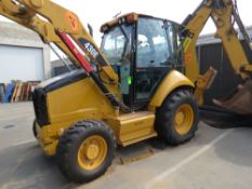 2011 CATERPILLAR 430E SKIP LOADER BACKHOE, ENCLOSED CAB, AIR CONDITIONED, HOURS 2,929 (THIS LOT WILL