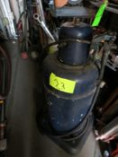 LOT 3-ASSORTED GREASE & FLUID PUMPS WITH BUCKET, CAULKING & GREASE GUNS IN PLASTIC BIN