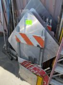 LOT ASSORTED CONSTRUCTION ROAD SIGNS & A-FRAMES