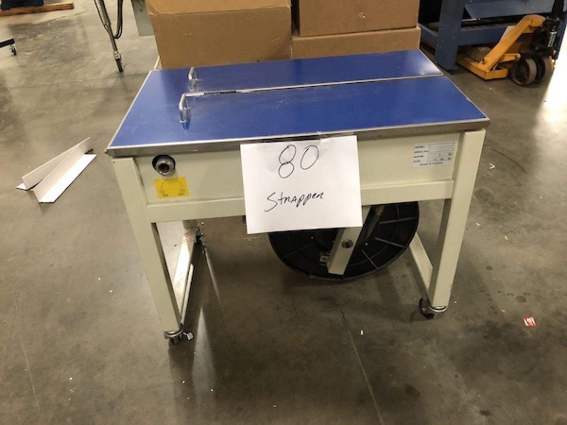 Lot 80 - Automated strapper Model 91 SN 1040120001 Year 2015