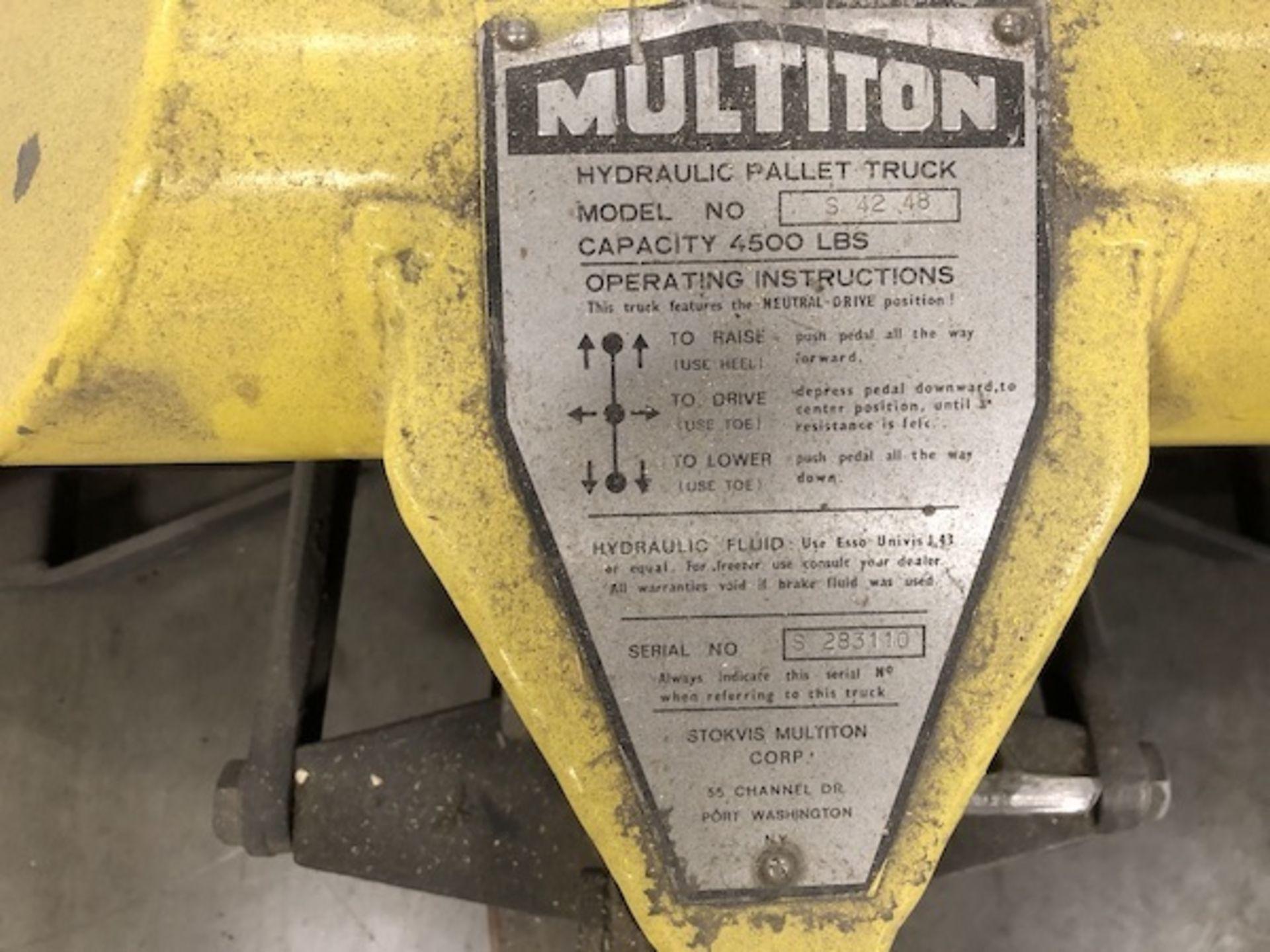 Lot 81 - Multiton paper roll lift