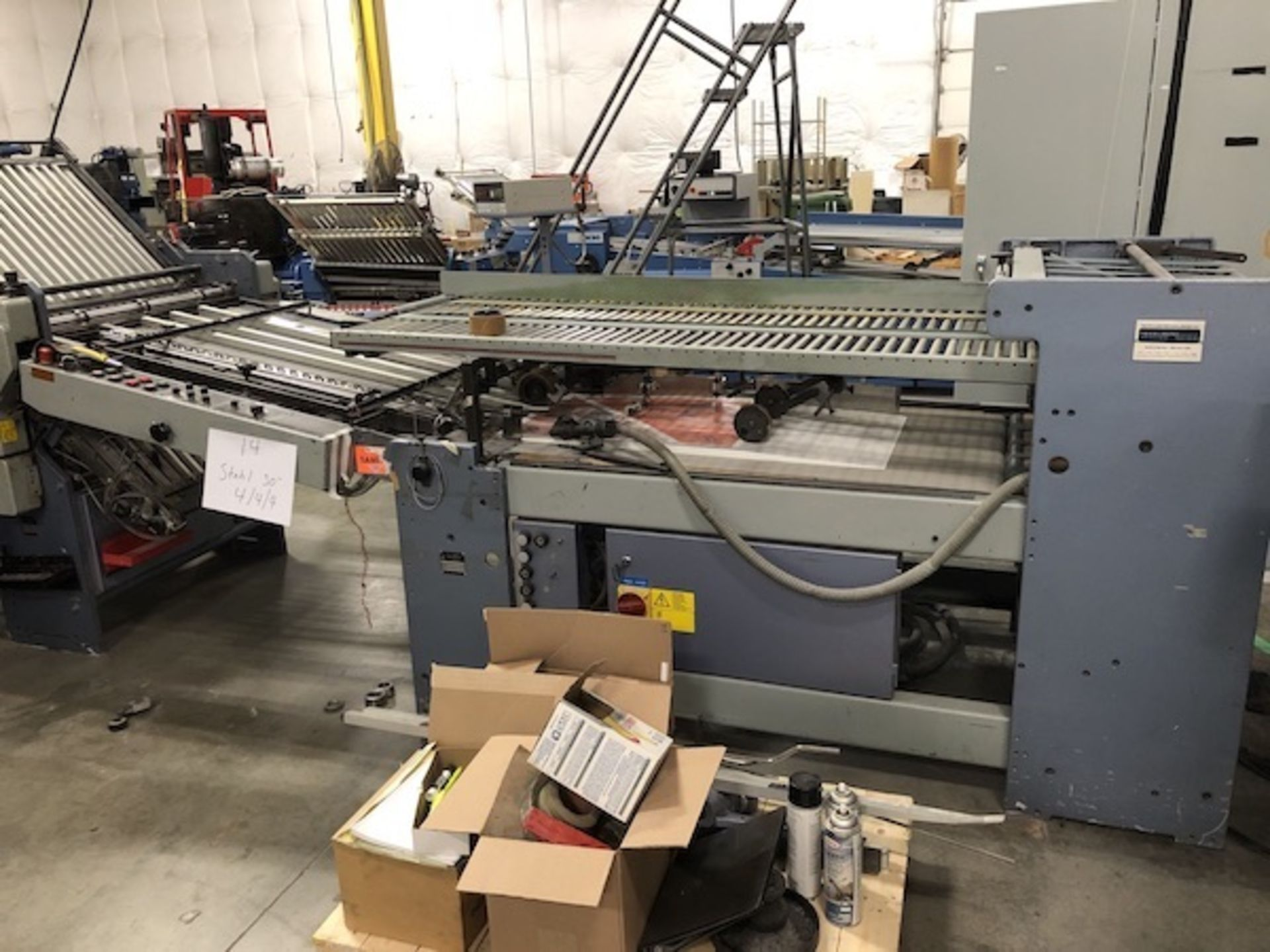 """Lot 14 - 30"""" Stahl Continuous Feed Folder 4/4/4"""