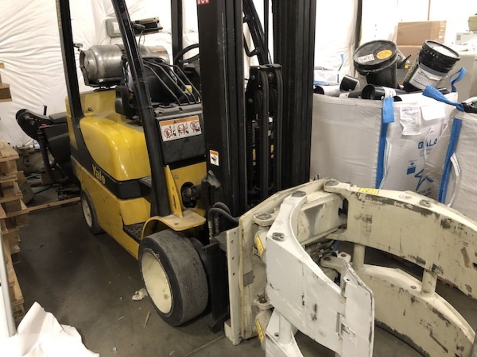 Lot 30 - Yale Forklift, LP Fueled, 4,400-Lb Capacity, With Cascade Roll Clamp,