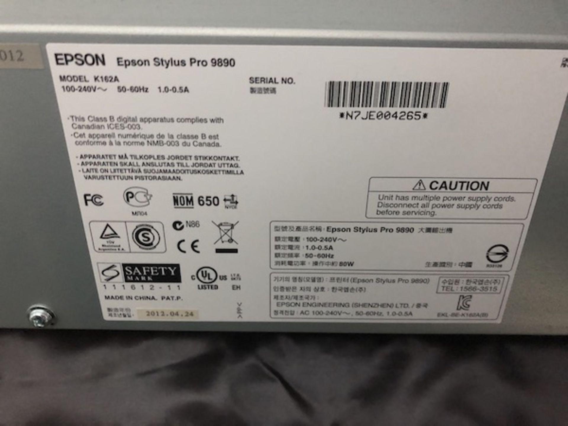 Lot 204 - Epson Model Stylus Pro 9890 Proofer, 44Ó, With In-Line Spectroproofer