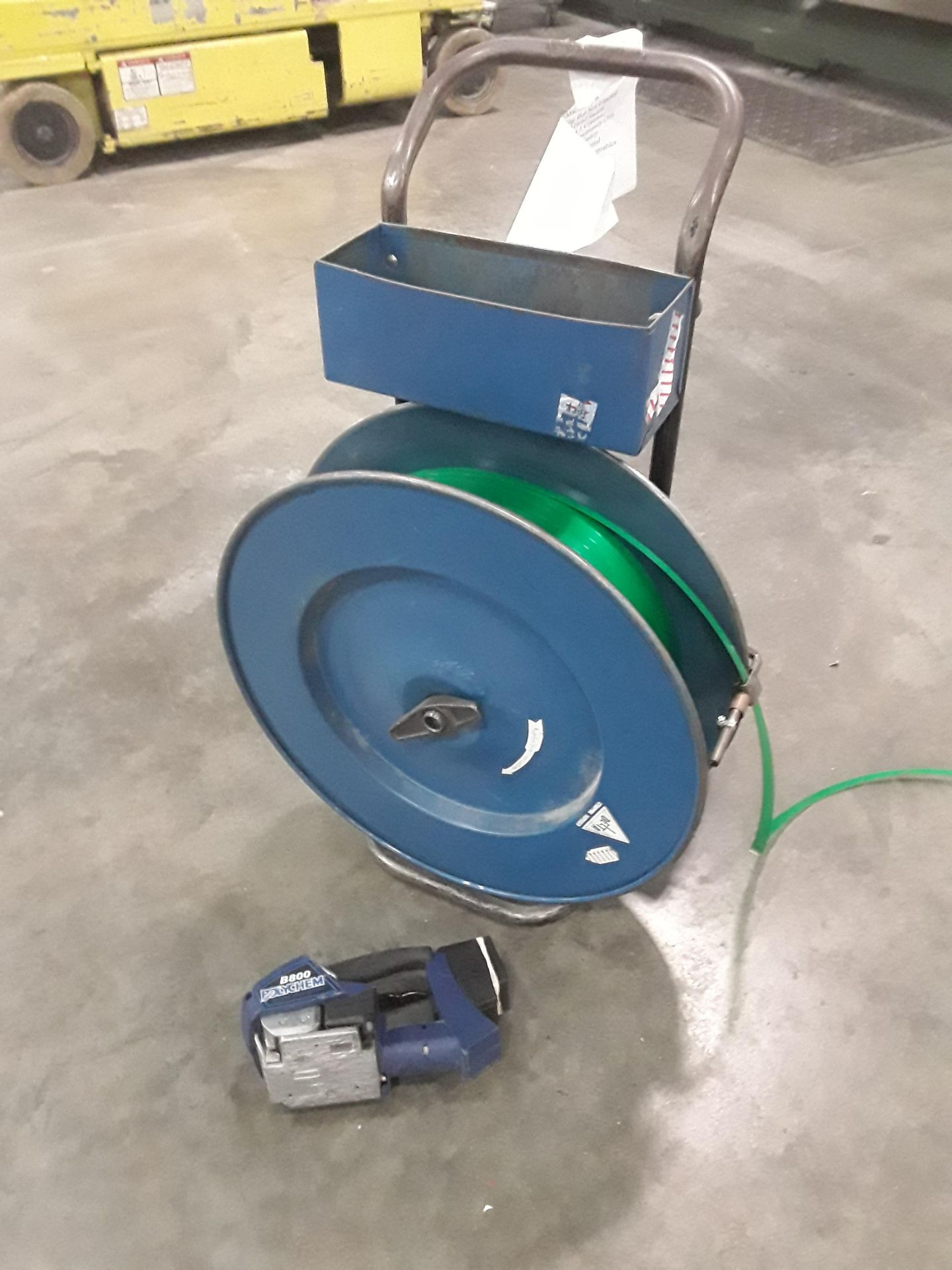 Lot 5 - Polychem B800 Strapping Tool with Strapping Cart