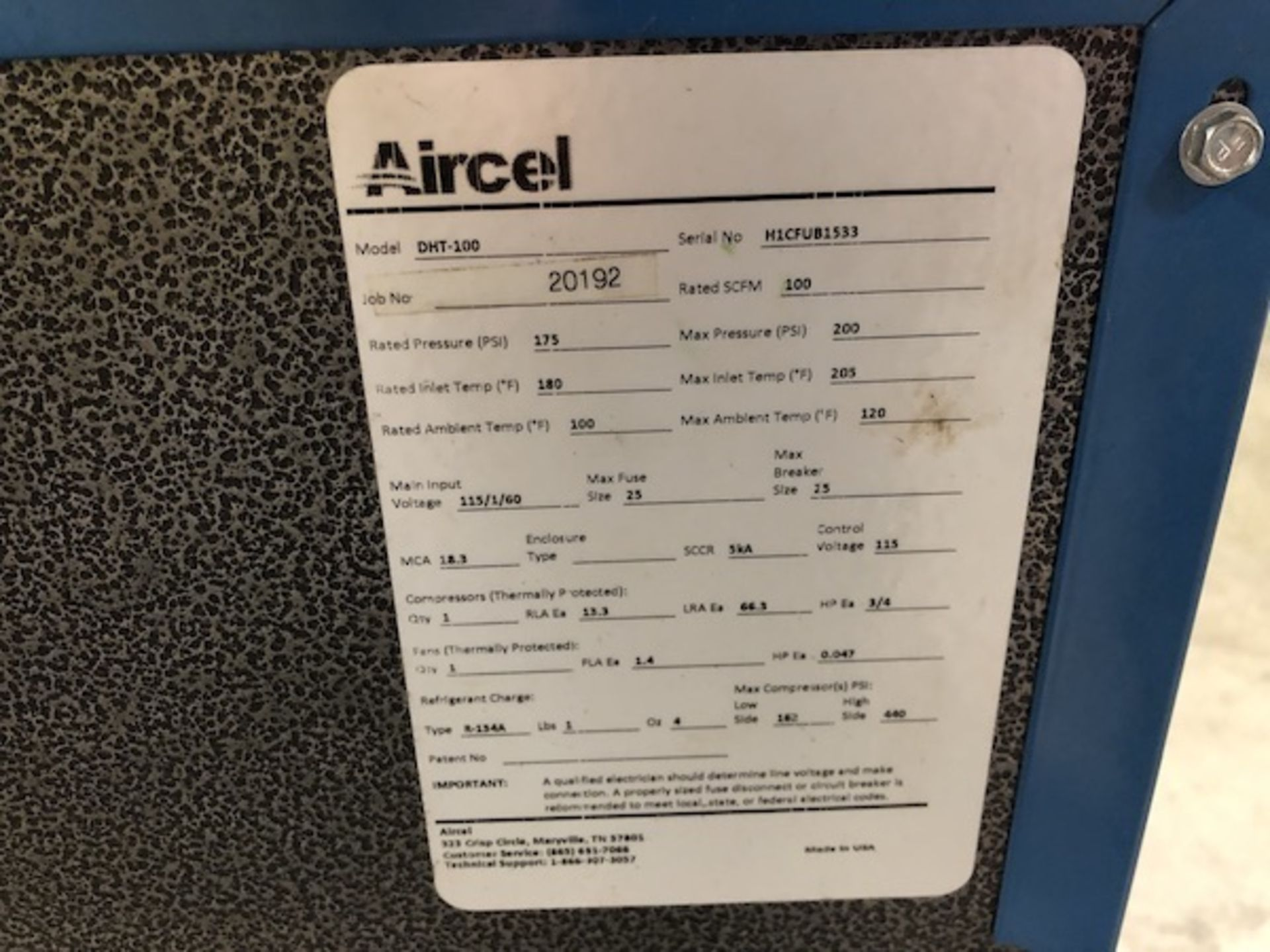 Lot 70 - Aircell Air Dryer for air compressor