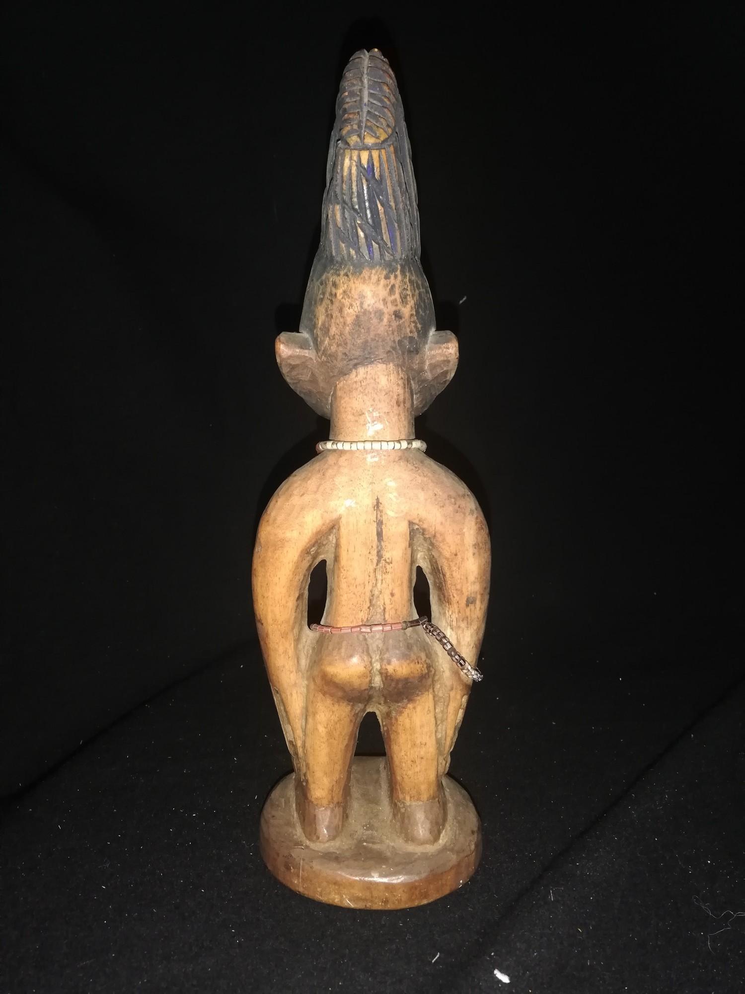 "Lot 239 - African ibeji figure - Yoruba -11"" high"