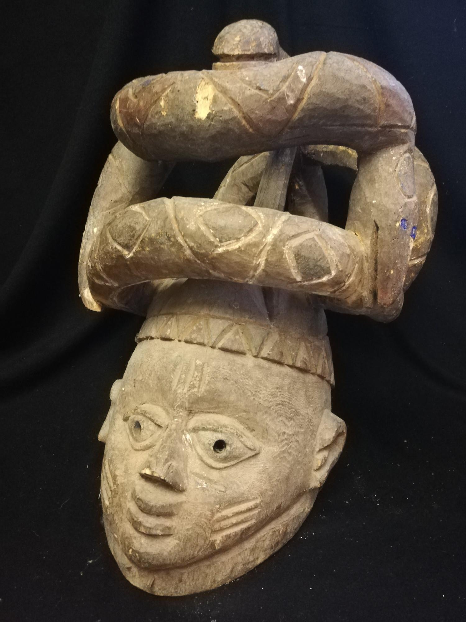 """Lot 260 - Yoruba 2 masks - 16"""" x 9½"""""""