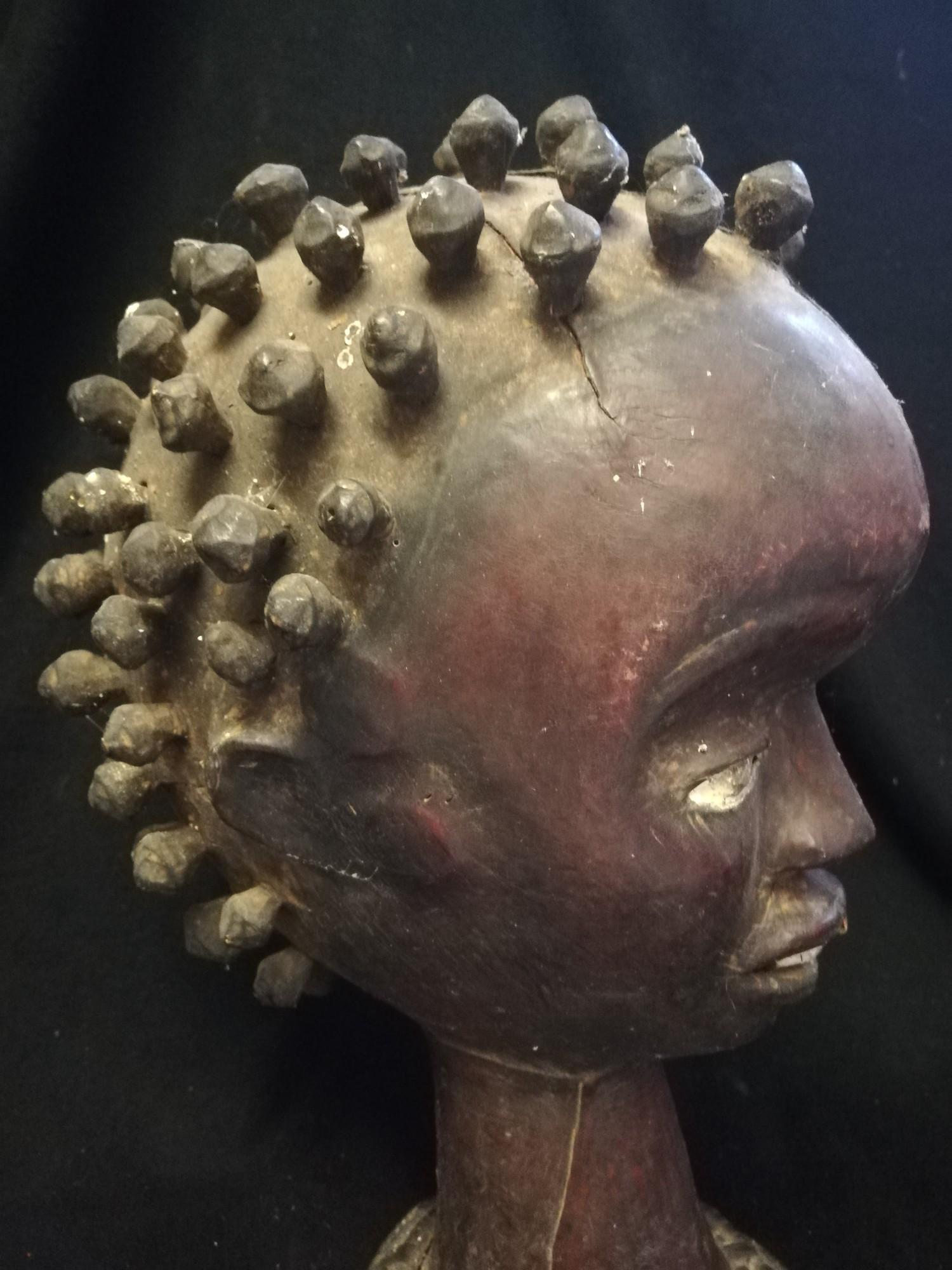 """Lot 262 - 2 x Nigerian headmasks - 14"""""""