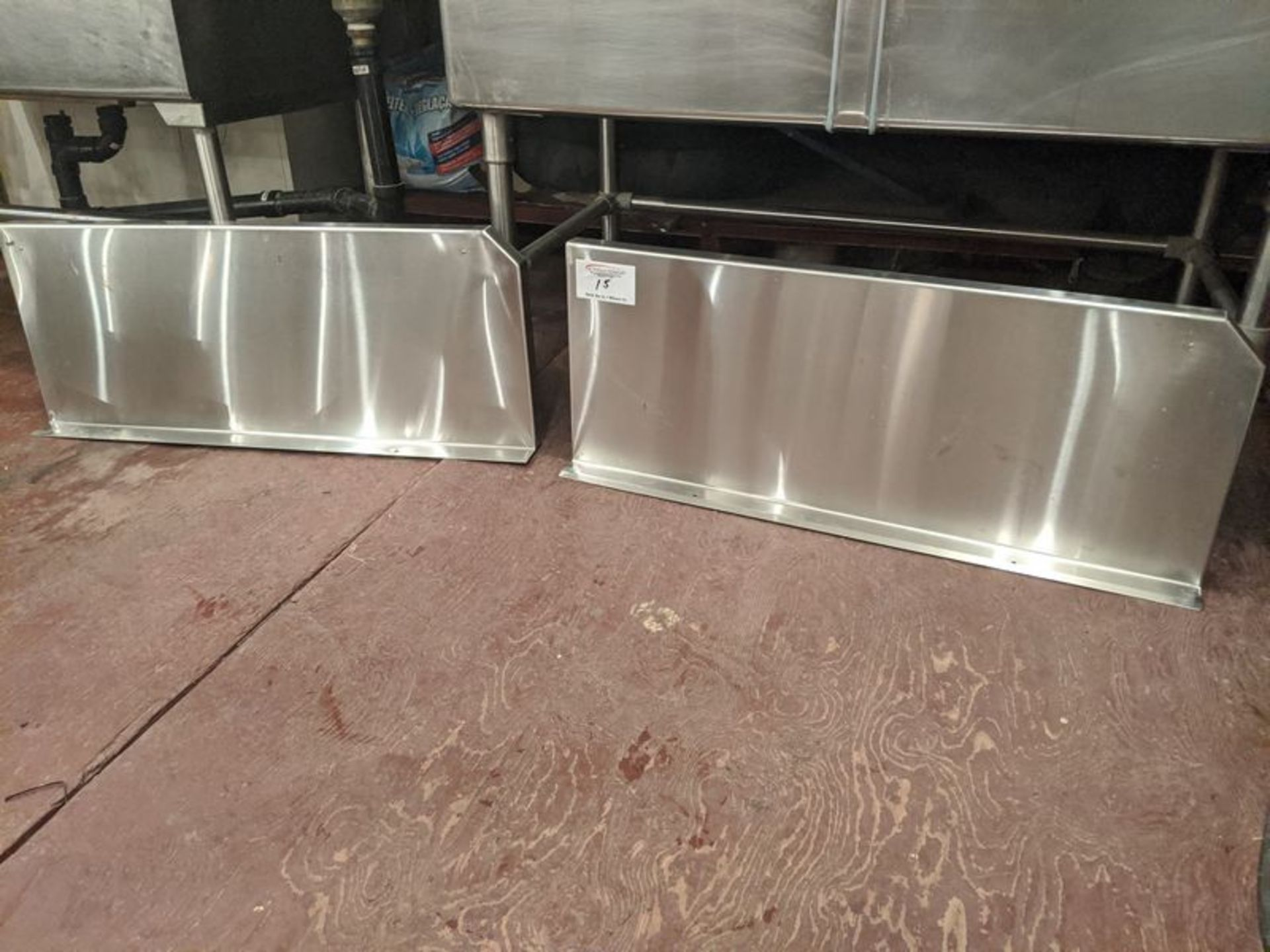 "Lot 15 - 2 x 36"" Stainless Steel Wall Shelves"