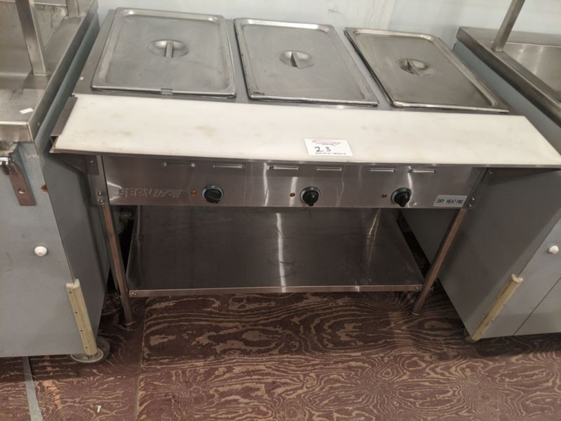 Lot 23 - Serve-Lite 3 Well Hot Table