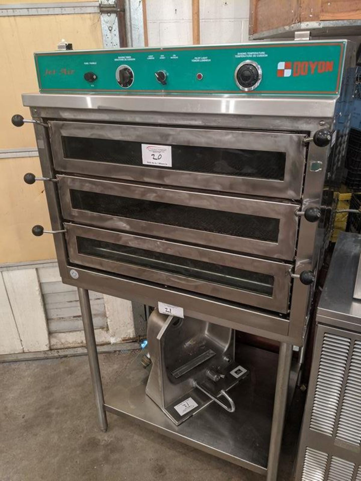 Lot 20 - Doyon Piz 3 Jet Air Oven - Note Stand Not Included