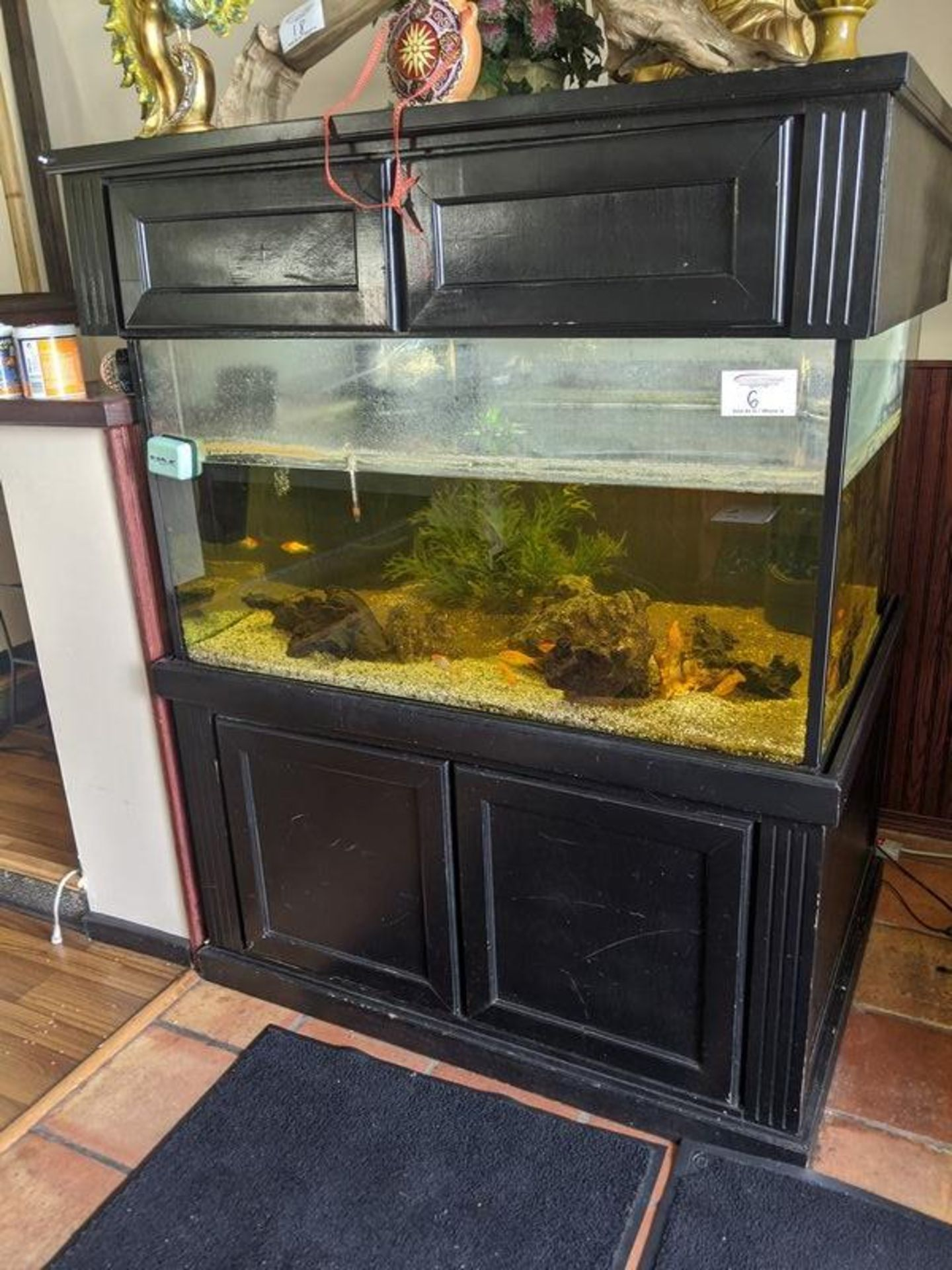 Lot 6 - Large Fish Tank with Pumps and Filters