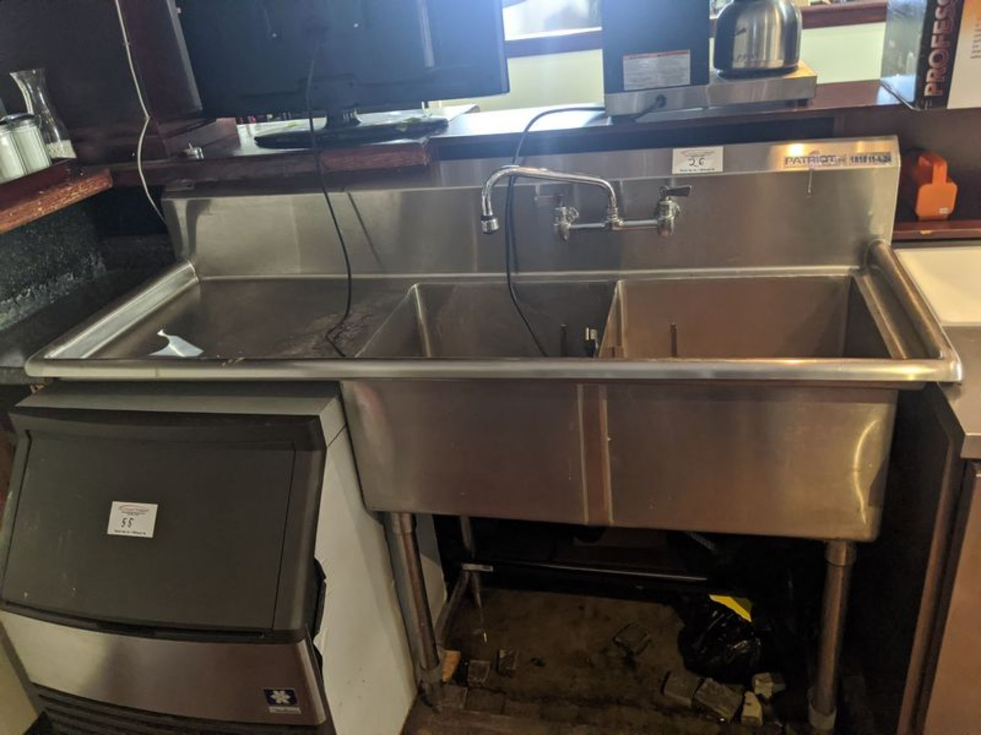 Lot 26 - Patriot 2 Compartment Sink with Left Hand Run-off