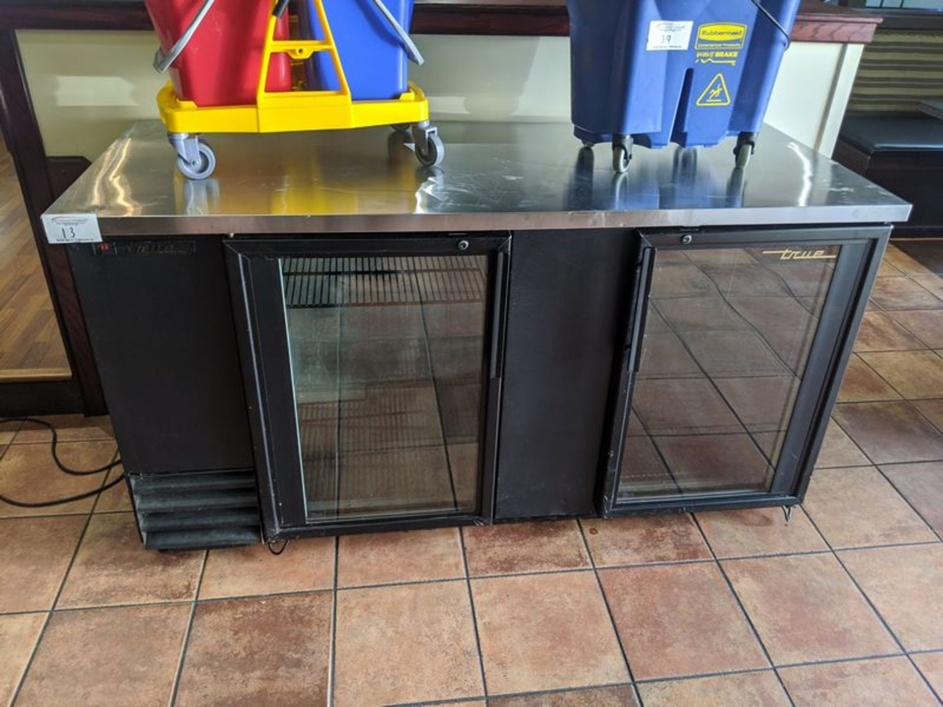 "Lot 13 - Approx. 65"" True 2 Door Back Bar"