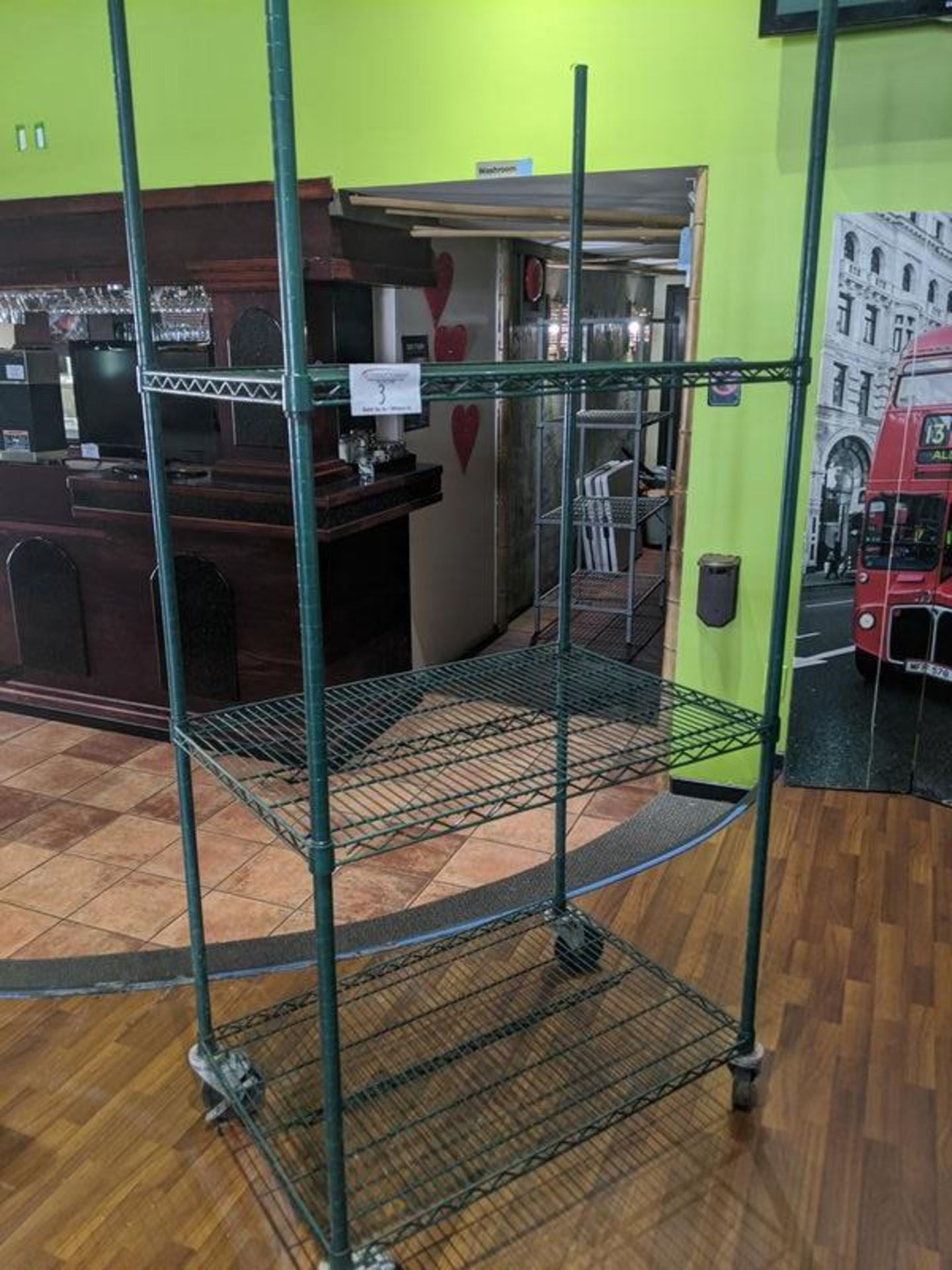 Lot 3 - 3 Tier Powder Coated Metro Rack on Casters