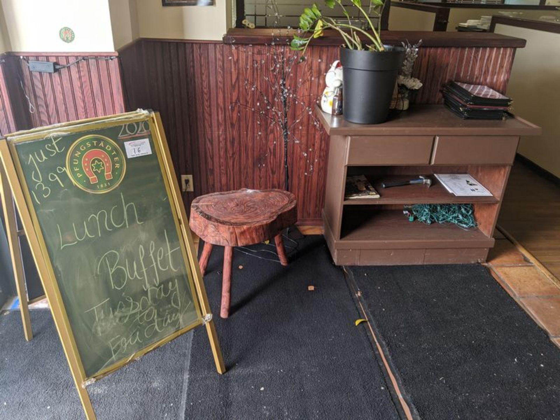Lot 16 - Folding Sandwich Board and Hostess Stand