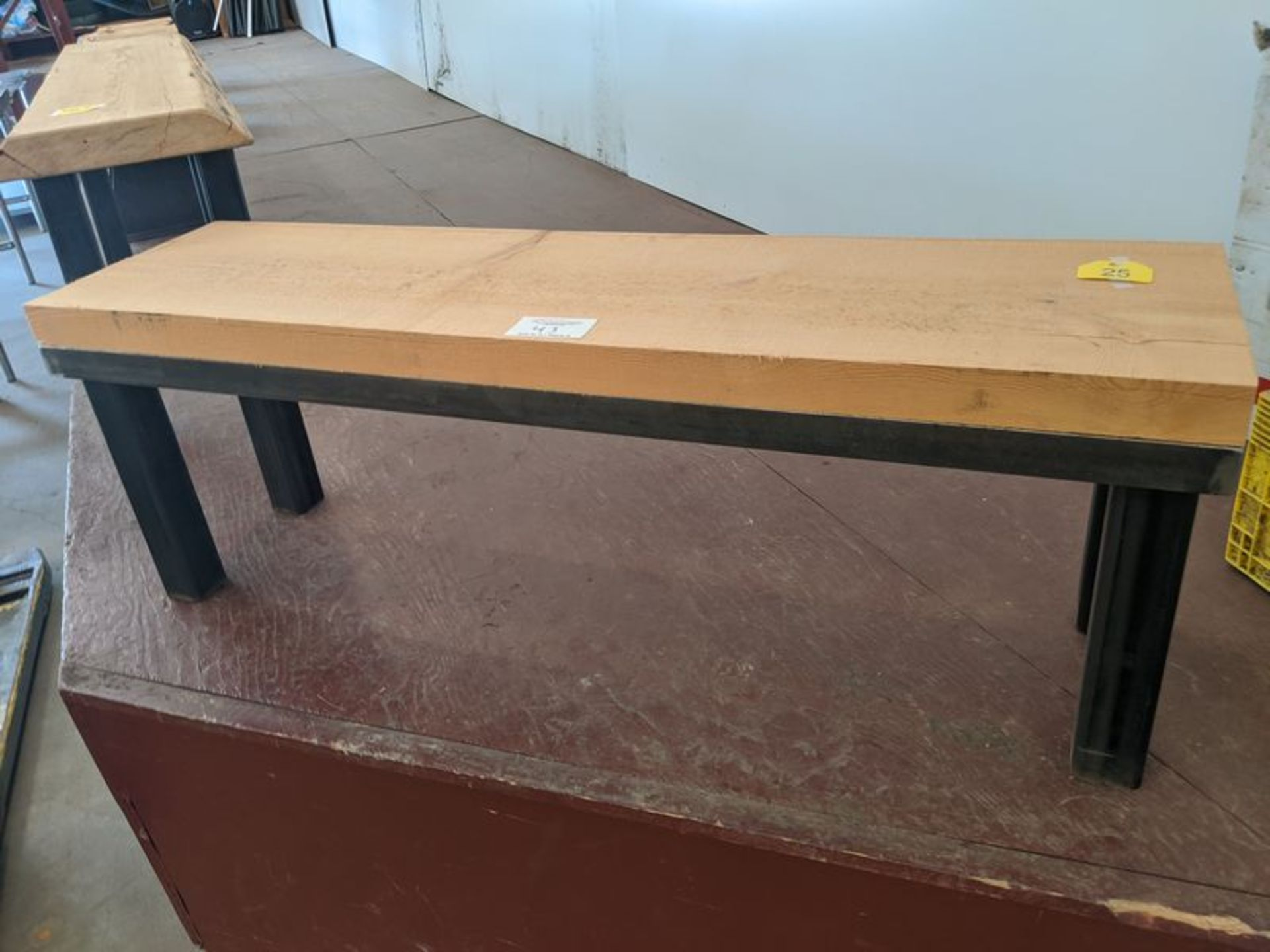 """Lot 43 - Approx. 60"""" Wood Bench"""