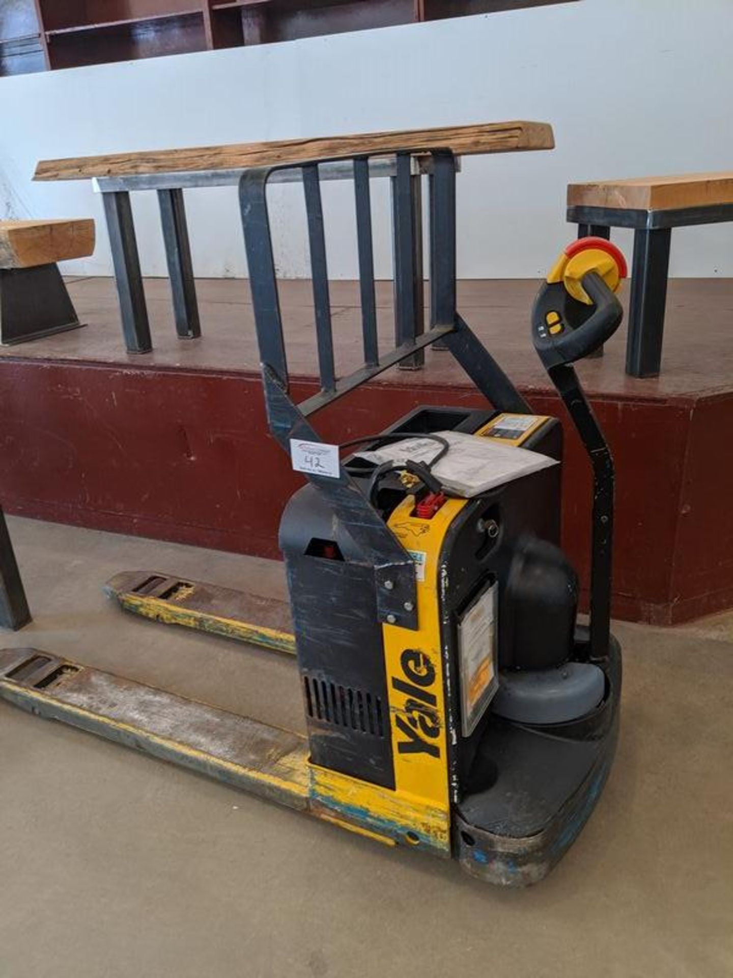 Lot 42 - Yale Model Mpb040 Electric Pallet Jack with Built in Charger