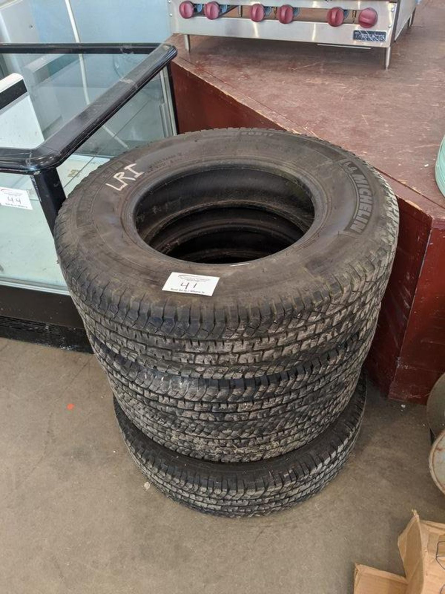 Lot 41 - 4 Michelin LT235/80/R17 Tires, Approx. 50% Tread