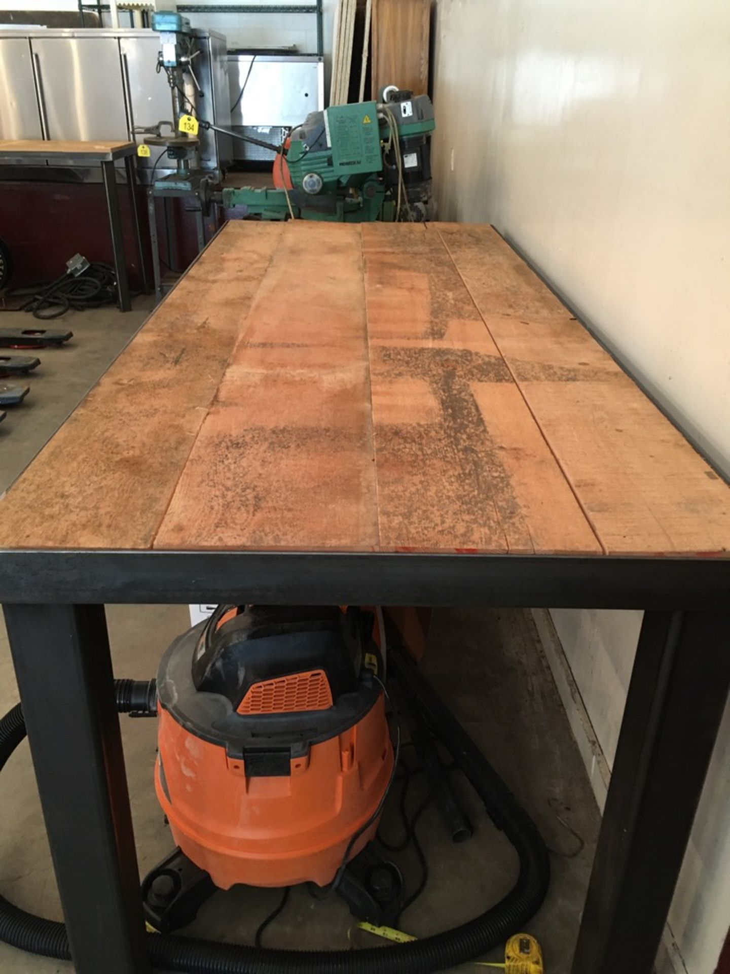 """Lot 32 - New Approx. 40 x 96"""" Welded Wood Top Table"""