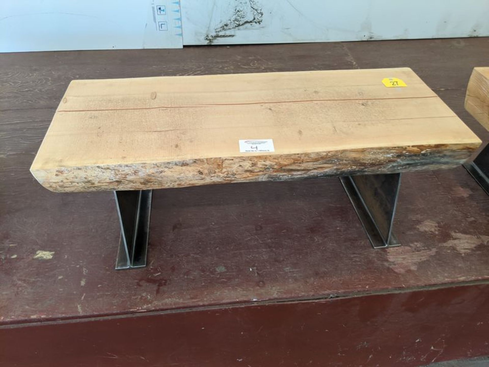 "Lot 4 - Approx. 48"" Live Edge Bench"