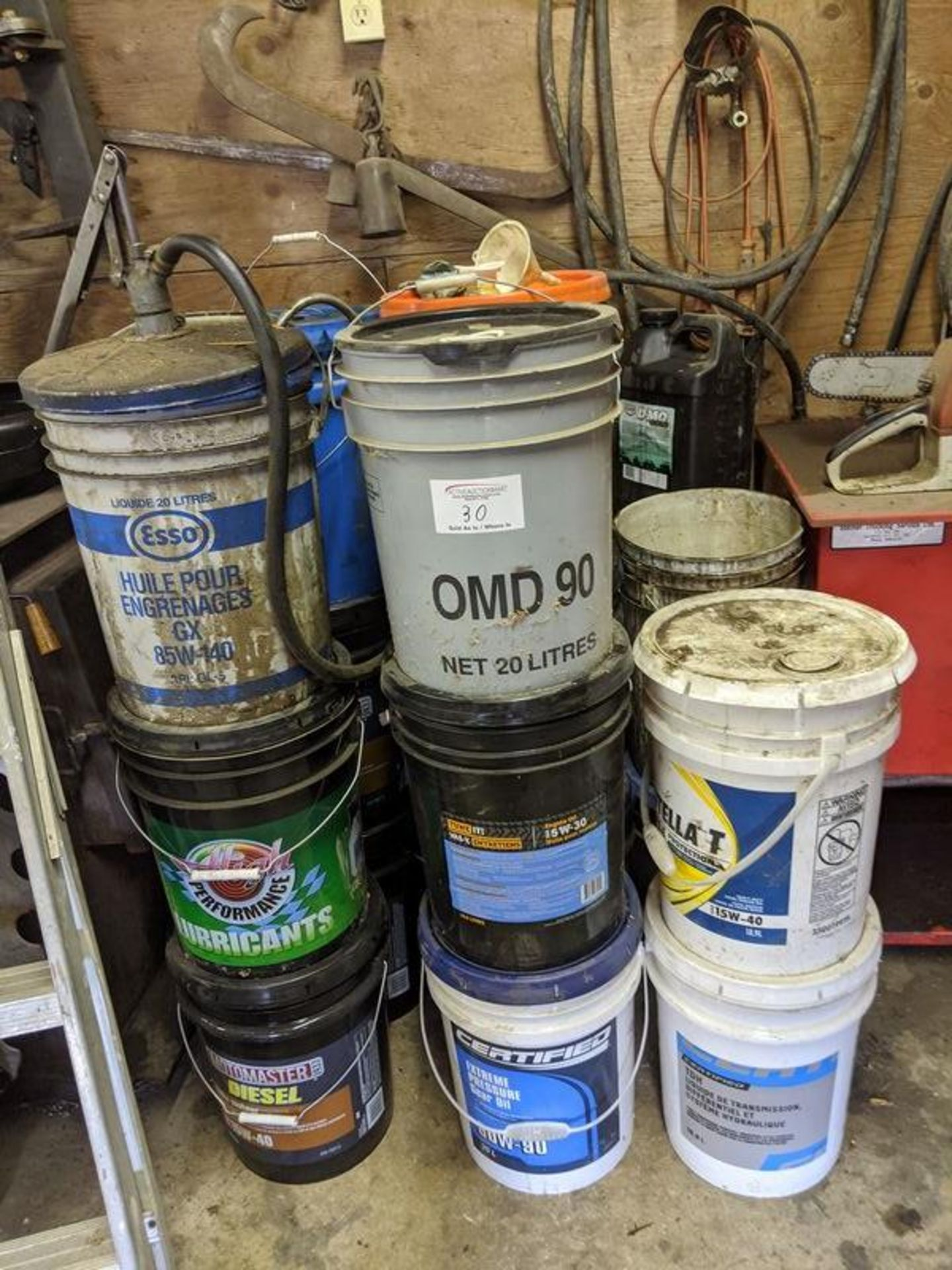 Lot 30 - Approx. 20 Pails of Various Oil