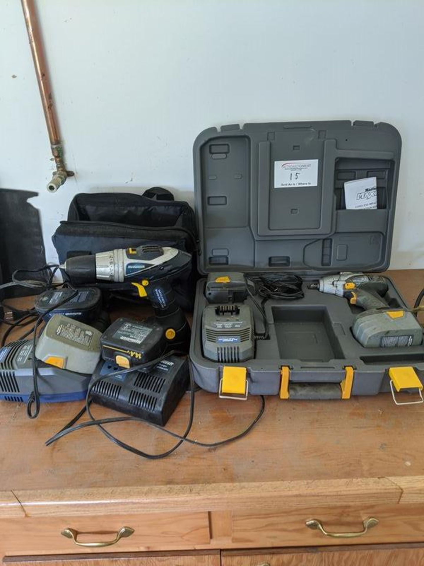 Lot 15 - 2 Drills with Assorted Batteries