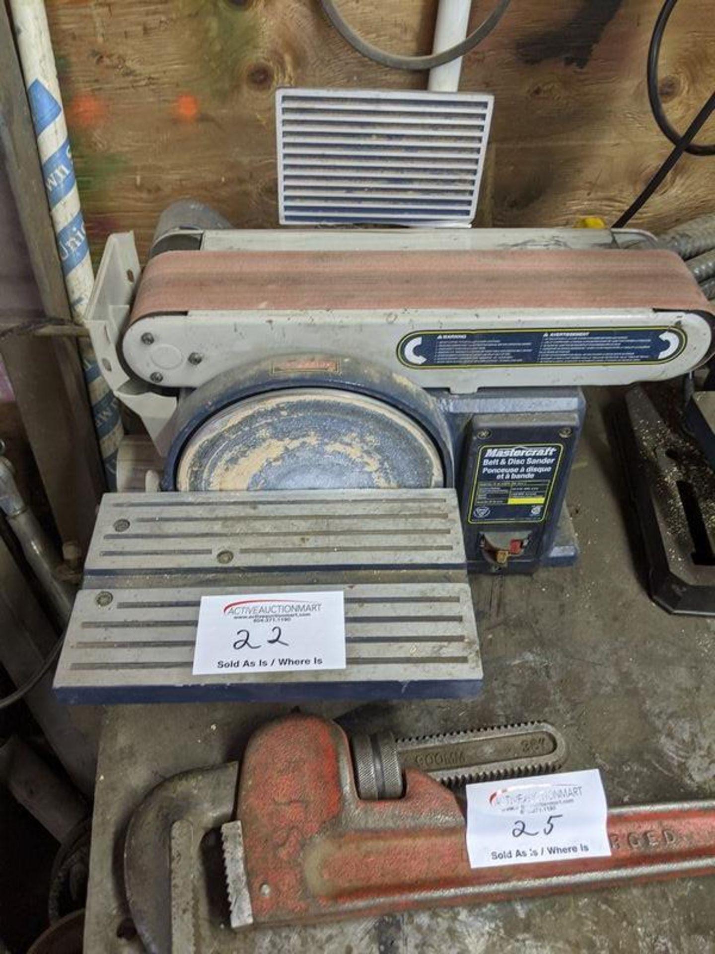Lot 22 - Mastercraft Belt and Disc Sander