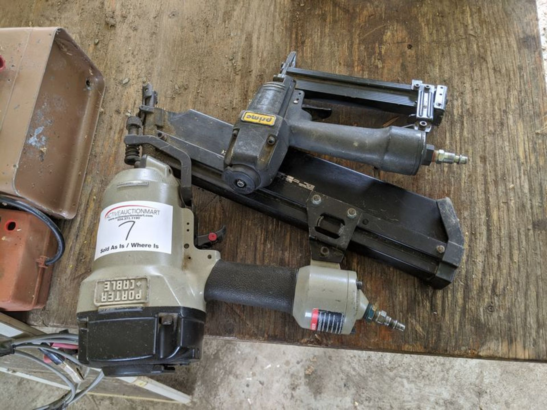 Lot 7 - Porter Cable Air Nailer with Small Nailer