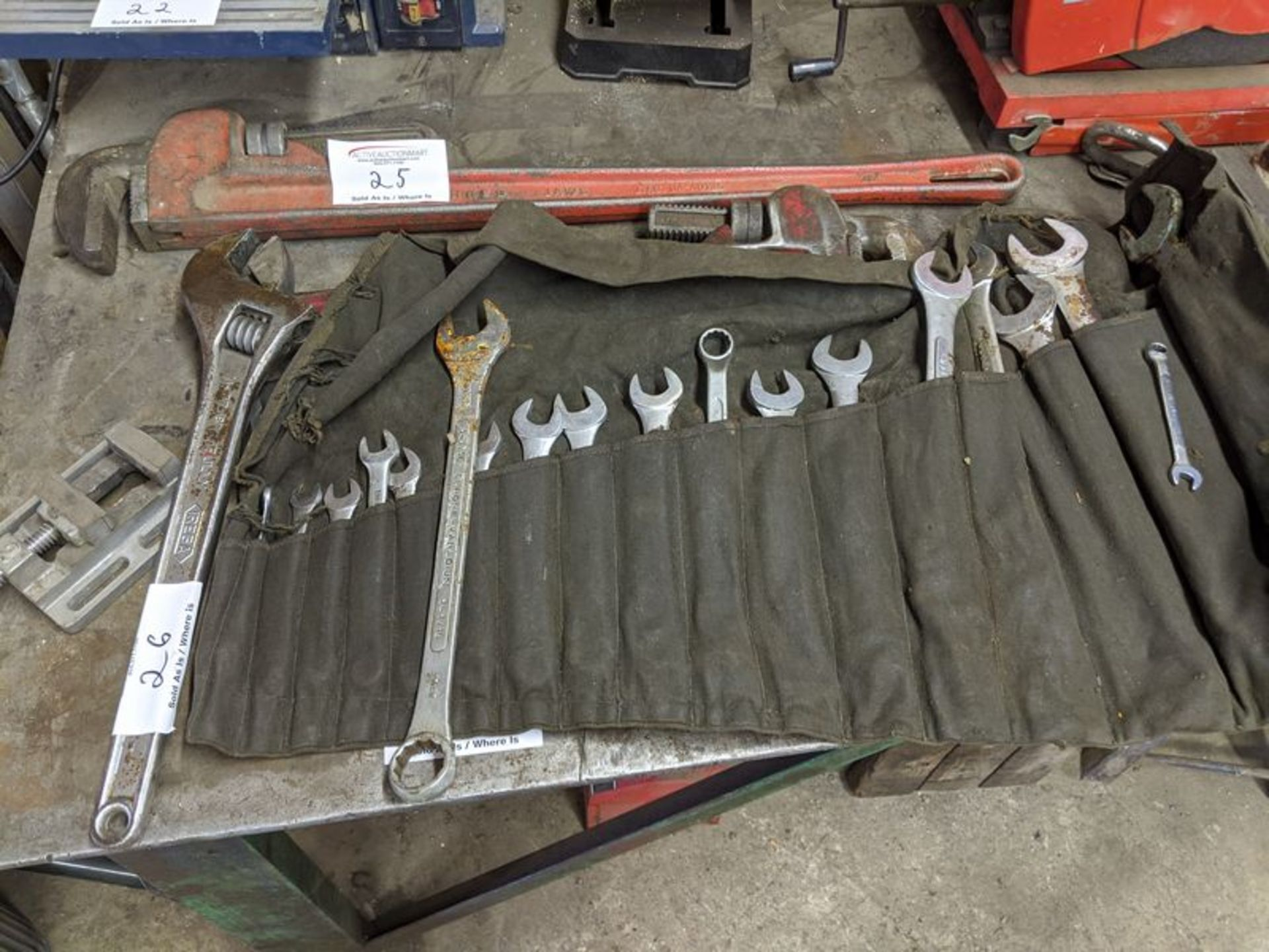Lot 26 - Assorted Crescent and Combination Wrenches