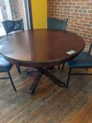 "60"" Round Wood Dining Table"