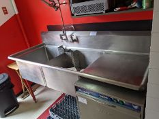 EFI 2 Compartment Sink with Right Hand Run Off and Wash Wand