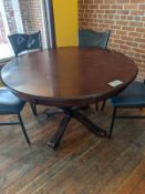 "2 - 60"" Round Wood Dining Tables"
