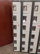 2 Banks of 6 Door Lockers