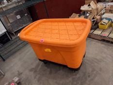 Orange Wash Tub on Castors