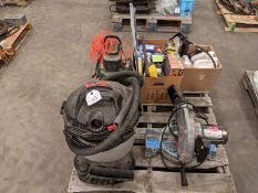 Skid of Air Compressor, Shop Vac, Cut-off Saw, etc.