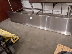 "Approx. 80"" Stainless Steel Shelf with Brackets"