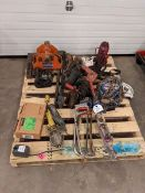 Lot of Assorted Jacks, Hoists ad Hitches