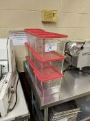 Nine 6 Quart Storage Bins with Lids