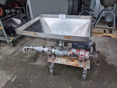 Motorized Pump with Hopper