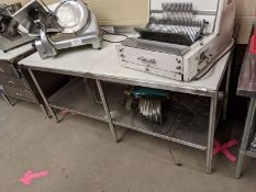 "Custom 72"" 2 Tier Stainless Steel Work Table with Cutting Top"