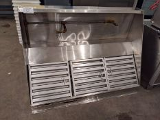 Approx. 5 Ft Stainless Steel Canopy with Fire Suppression