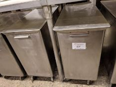 2 Belshaw Stainless Steel Ingredient Bins on Casters. Price Each times 2