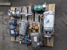 Skid of Assorted Pumps and Motors