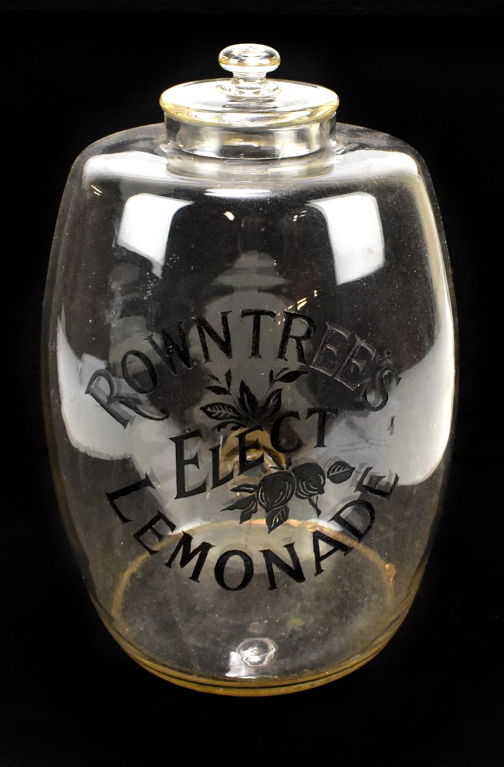 Lot 10 - An advertising Rowntree's Elect Lemonade storage jar with cover, height 36cm.Additional