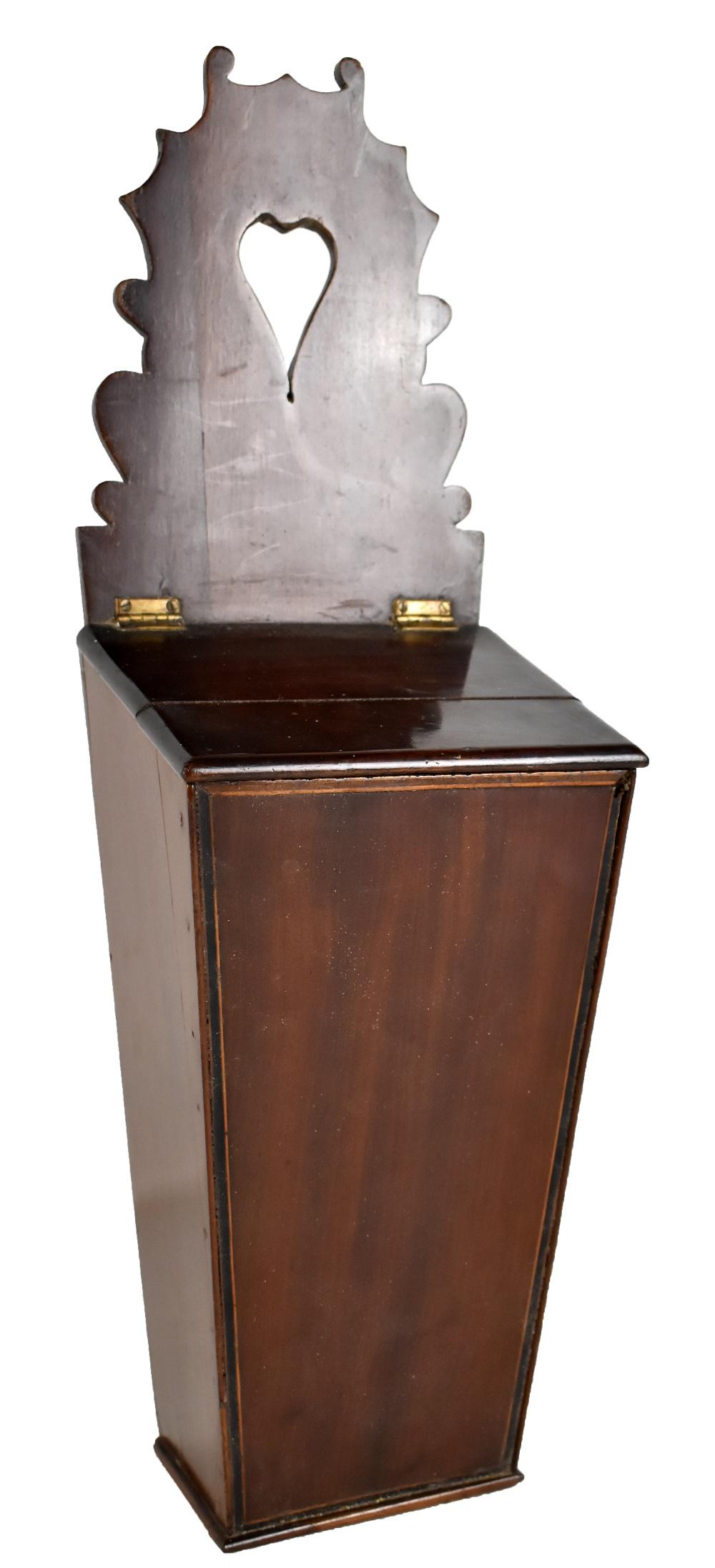 Lot 42 - A 19th century mahogany salt box, height 56cm (af).