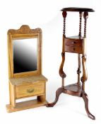 A reproduction mahogany Edwardian-style jardinière stand,
